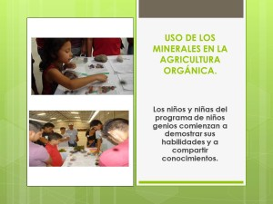 Los jóvenes conocieron en detalle el uso de los minerales en la agricultura orgánica.