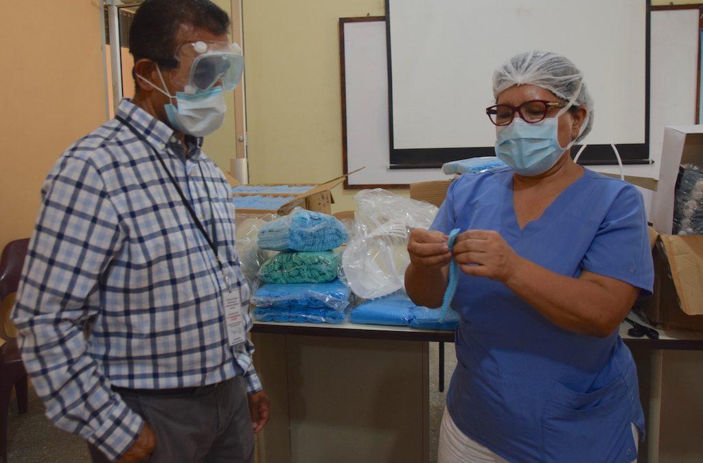 COMSA entrega equipo de bioseguridad para enfrentar el COVID -19