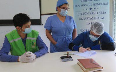 Juntos Limpiamos Marcala, firma convenio con la Secretaria de Salud en Marcala